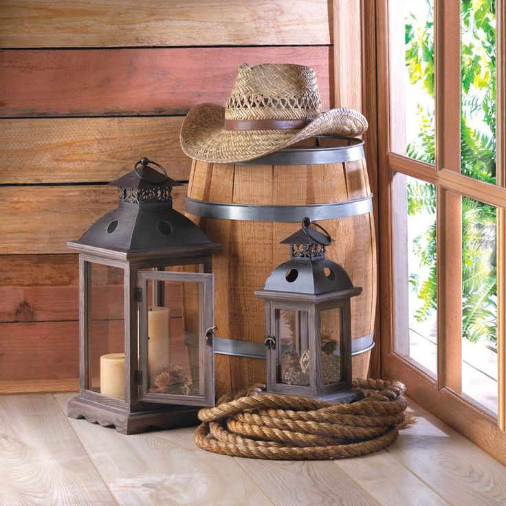 Large Monticello Candle Lantern Rustic Wedding Centerpieces - Affordable Elegance Bridal