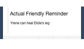 ToG-What? This actually is friendly! Are we learning?...and OMG yes! Elide is totally going to be healed! Yeah!