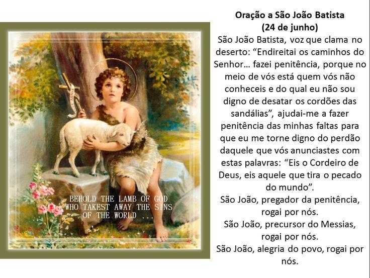 LAÇO DO PASSARINHEIRO -ORAÇÕES PODEROSAS: Oração e simpatia simples a São João Batista