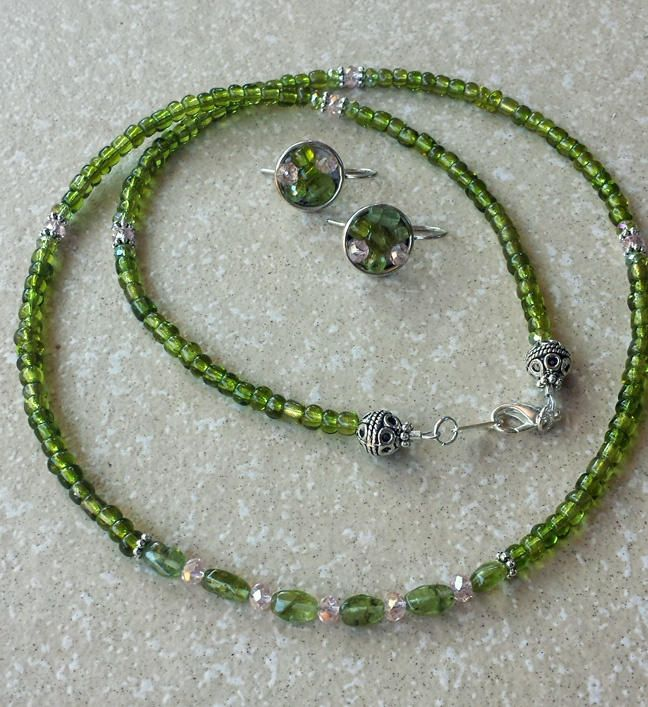 Peridot Heaven! - Jewelry creation by K. Lynn Designs