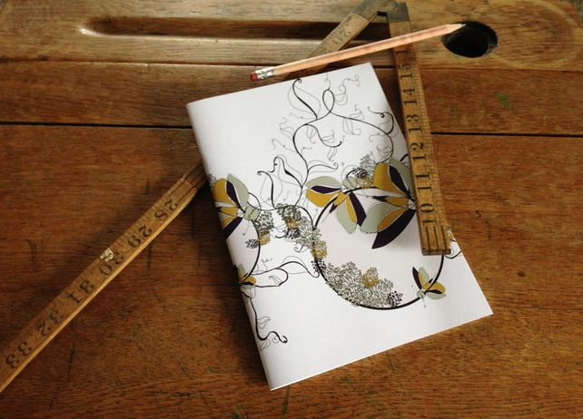 Notebook Lined Paper -- Flutterby Design £5.00