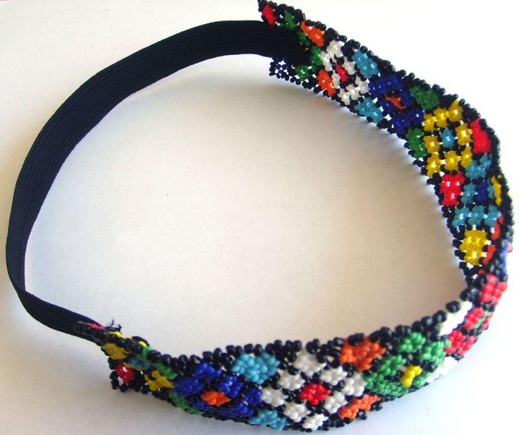 Mexican Huichol Elastic Headband