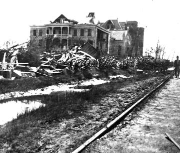 Ursuline Academy In Galveston After The Great 1900 Storm 1900 Galveston Hurricane Galveston Texas Texas City Explosion
