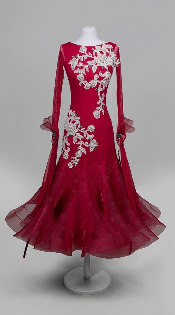 Winter-cherry ballroom dance dress