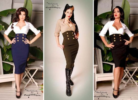 pin up military secretary pin up girl costumegreat halloween - Pin Up Girl Halloween Costumes 2017