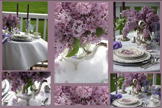StoneGable: Lilac Tablescape Details for the Sixty-Third Anniversary #63rd Anniversary