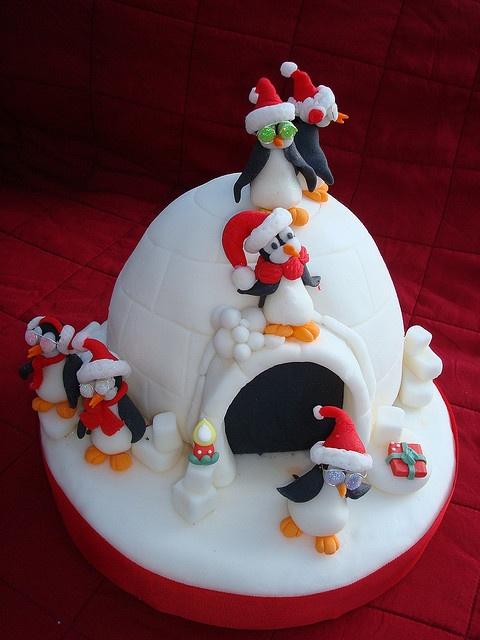 Tartas de Pinguinitos en Navidad by Caterina Bianchi Di Vigny - Cake Show, via Flickr