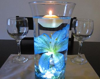 Ocean Blue Tiger Lily Wedding Centerpiece Kit by RoxyInspirations
