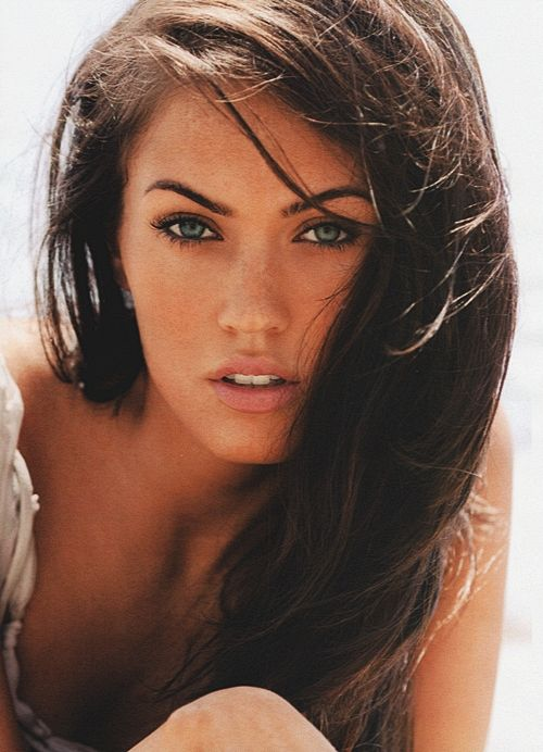 Megan Fox, I'm always iffy about her but she definitely takes amazing photos, even though she's had plastic surgery. ;)