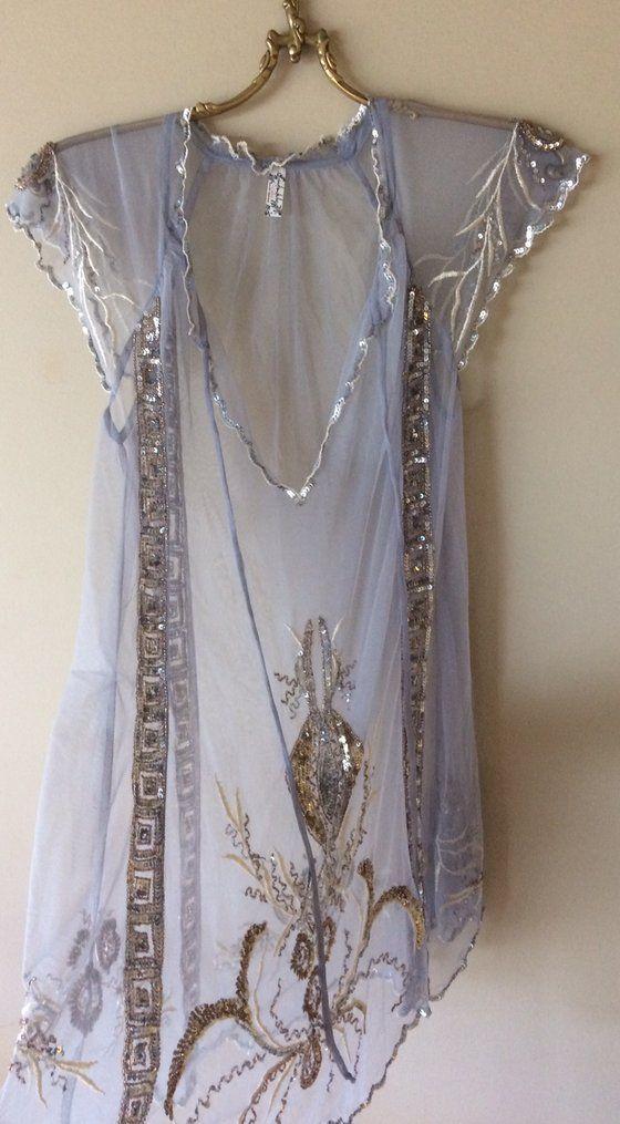 fbd72cd9305e Image of Free People Lilac beaded Fairy Gypsy Romantic sheer mesh dress