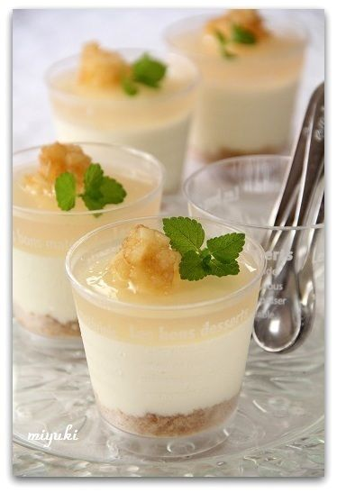 桃風味のカップレアチーズケーキ~♪ by miyukiさん | レシピブログ ...