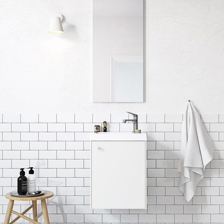 Badrum inspiration - Små badrum - Compact vit