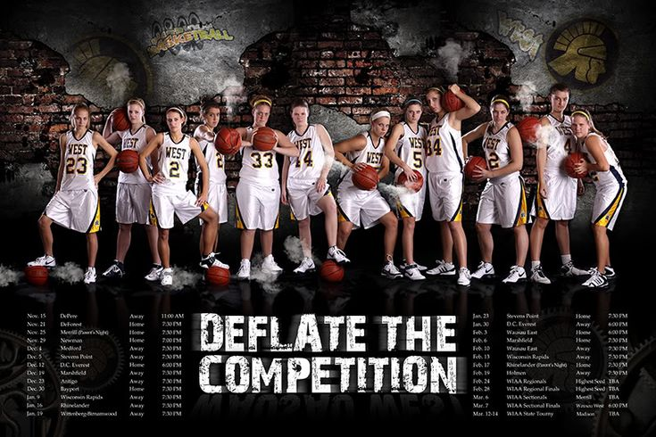 Sports poster basketball team photography pose idea for Sports poster ideas