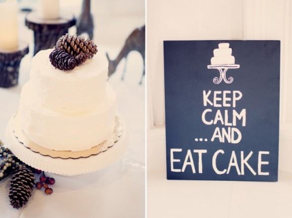 """""""Keep Calm...And EAT CAKE"""" A cute sign for the cake table."""
