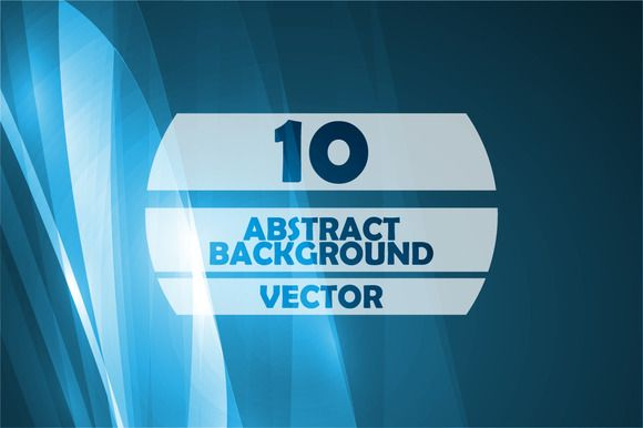 Abstract blue vector illustration by majcot on Creative Market