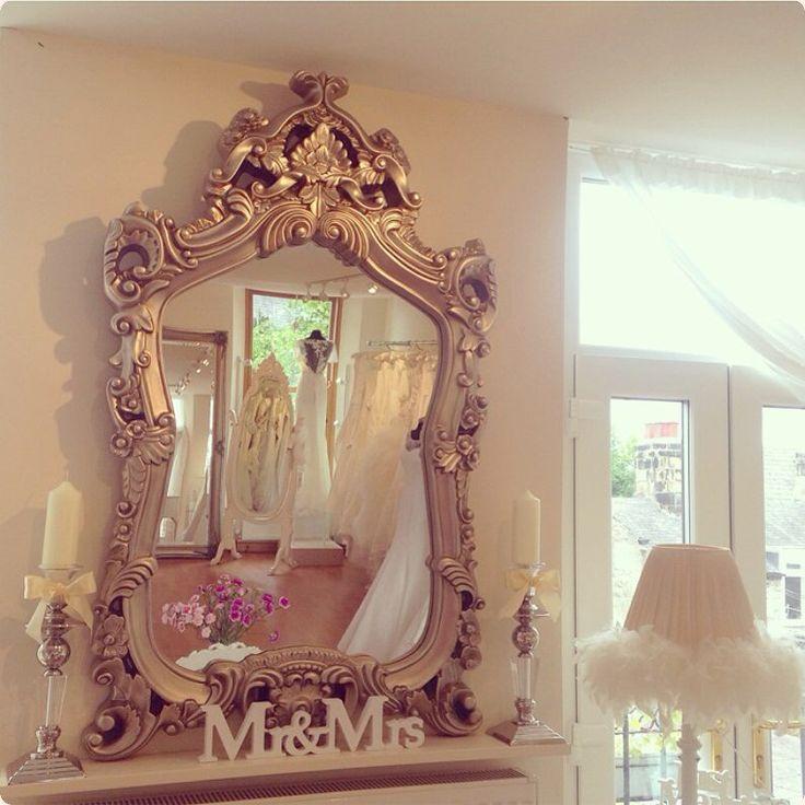 The wedding dress company Corbridge, Northumberland near Newcastle and Hexham bridal boutique with shabby chic decor