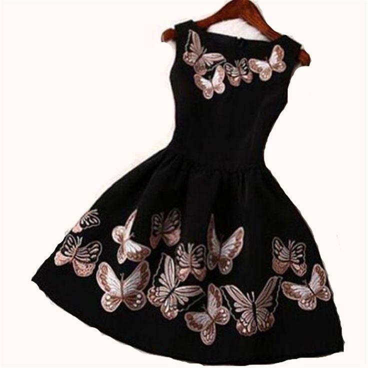 2016 New European Summer Women Elegant Lady O-neck Sleeveless Ball Gown Mini Vestidos Butterfly Print Dress Plus Size ZS791 Nail That Deal http://nailthatdeal.com/products/2016-new-european-summer-women-elegant-lady-o-neck-sleeveless-ball-gown-mini-vestidos-butterfly-print-dress-plus-size-zs791/ #shopping #nailthatdeal