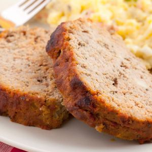 Southwestern Turkey Meatloaf - Tortilla chips give a fun crunch to this kicky turkey meatloaf. Plus, it comes with a creamy salsa on the side.