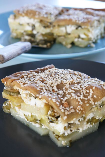 zucchini Greek pie 'boureki'
