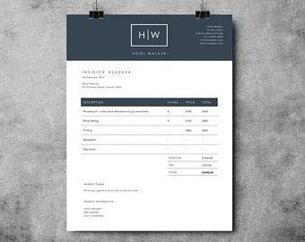 Plantilla de factura fotógrafo | Diseño de factura | Recibo plantilla | MS Word y Photoshop