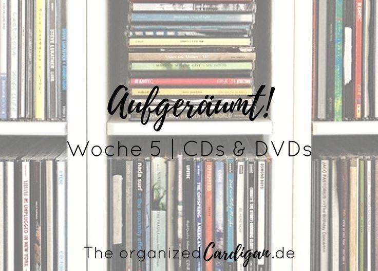 Anregungen zum aussortieren, ausmisten, aufräumen und organisieren von CDs und DVDs inkl Tipps zum Verkauf