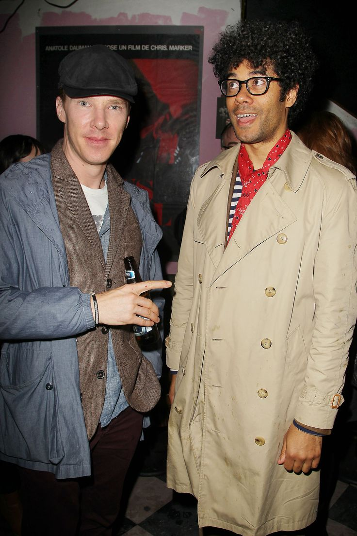 """Benedict Cumberbatch and Richard Ayoade at """"The Double"""" after party in NYC, April 30, 2014."""