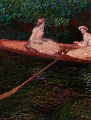 A Canoa Sobre o Rio Epte, de Claude Monet, é uma das obras que podem ser apreciadas na exposição ROMANTISMO, A ARTE DO ENTUSIASMO