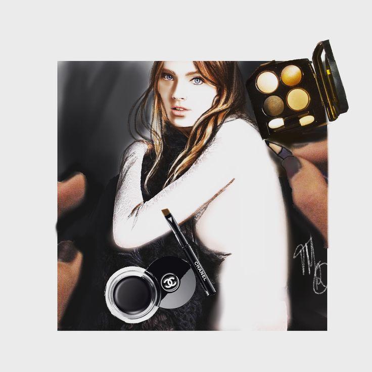 Fashion illustration,art,drawing,chanel