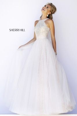 Sherri Hill 32218. In all the times I said I would never consider a white dress, this is beautiful