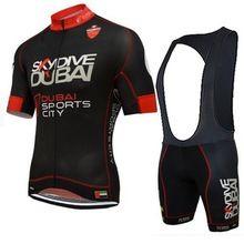 418e51b47 Pro team Skydive DUBAI cycling jerseys kits breathable MTB Short sleeve bike  cloth Ropa Ciclismo gel pad summer Bicycle maillot
