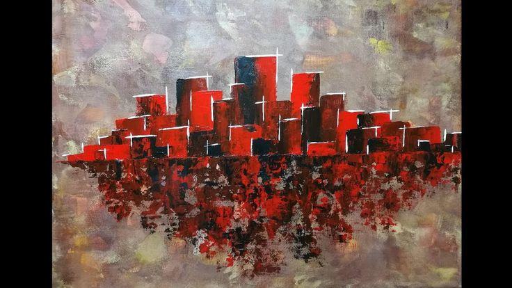 Les 25 meilleures id es de la cat gorie peinture au couteau sur pinterest couteau palette - Tuto peinture abstraite contemporaine ...