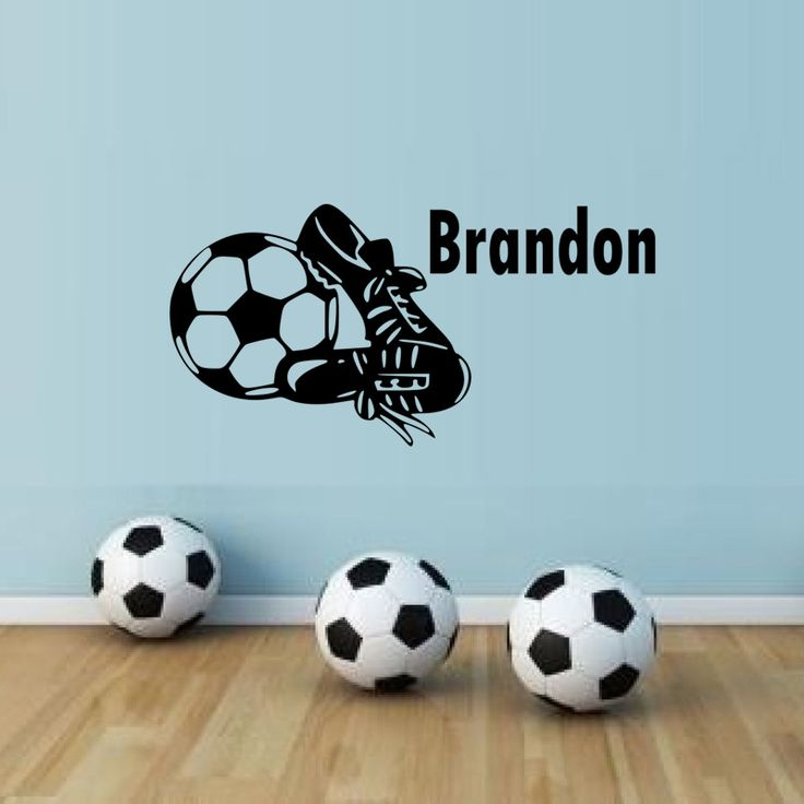 Personalised Football Boots Vinyl Wall Sticker Any Name Kids Bedroom Wall Art Decals Living Room Decoration Removable Wallpaper