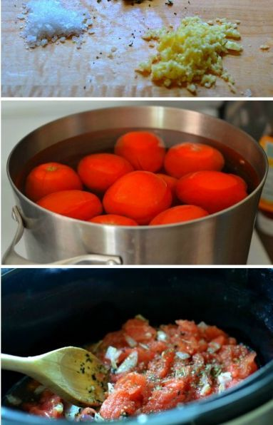 This easy homemade marinara sauce is to die for! Never buy storemade again. #recipes #frugal