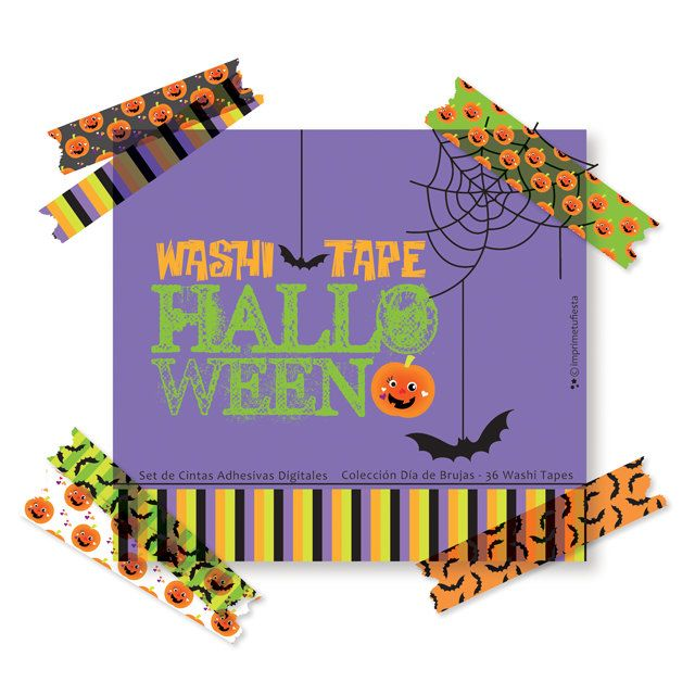 Digital Washi Tape Set Halloween - Set of 36 (Digital Elements - Personal use only) - pinned by pin4etsy.com