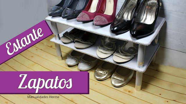 manualidades herme: Estante para zapatos casero