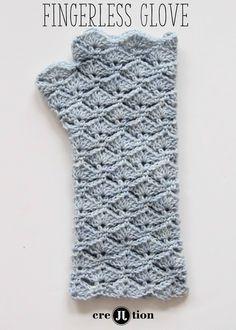 Crochet Figerless Glove - Tutorial :-)  ✿⊱╮Teresa Restegui http://www.pinterest.com/teretegui/✿⊱╮
