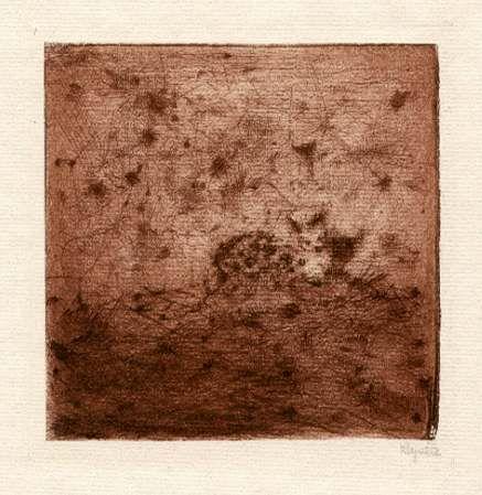 Bohuslav Reynek Zeď na výsluní / Wall in the Sunlight suchá jehla / dry point 12,5 x 12,5 cm, 1960, opus G 465