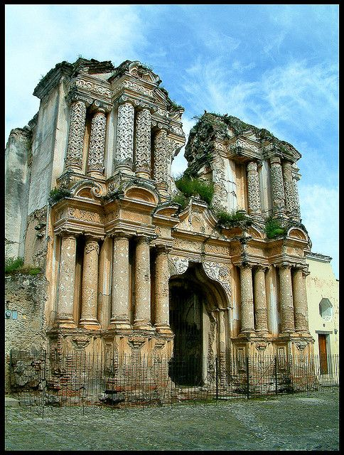 A crumbling building in Antigua, Guatemala. by brightonchris101, via Flickr