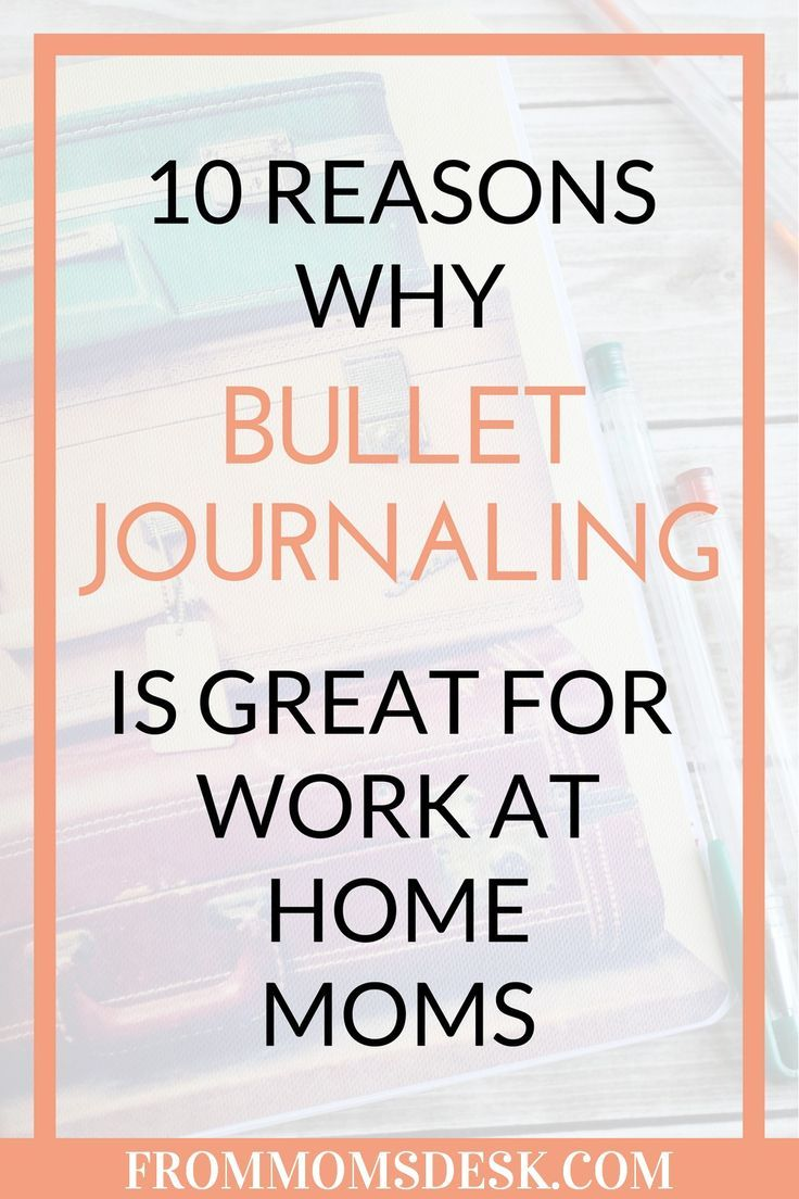 Bullet Journaling for WAHMs - Find out how easy work at home moms can be organized and productive by planning in a bullet journal! These things are so cost effective, easy to use, and fun to doodle in! via @keciahambrick