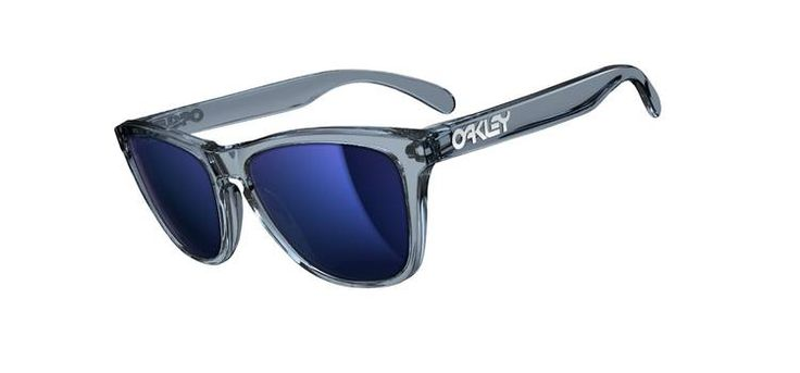 Classic Oakley Frogskins in Crystal Black/Ice Iridium. $110. Not polarized.
