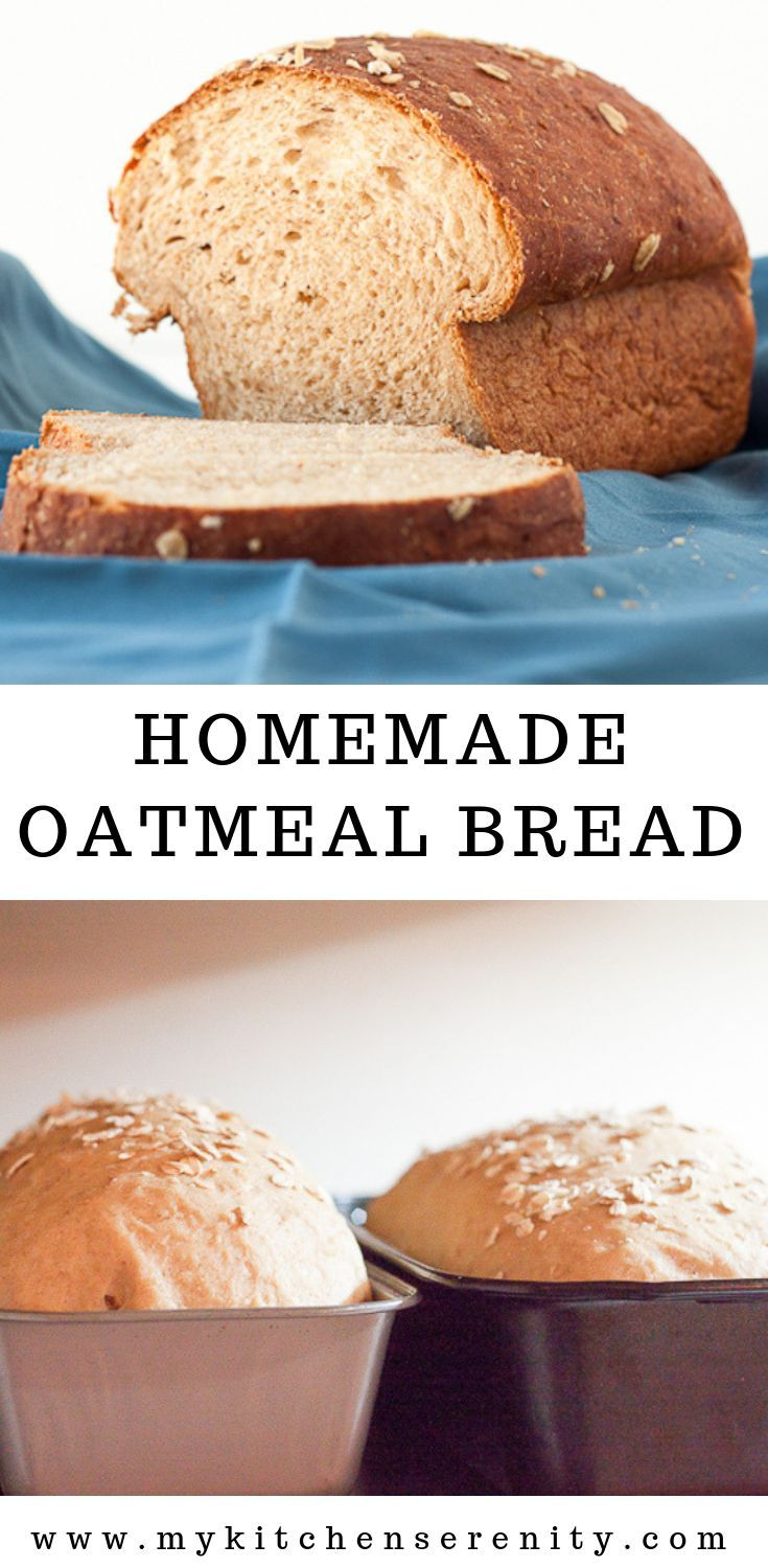 A Classic Homemade Oatmeal Bread Made With Flour Yeast Rolled Oats Buttermilk And Brown Sugar An Easy Bread Rec Homemade Oatmeal Oatmeal Bread Easy Bread