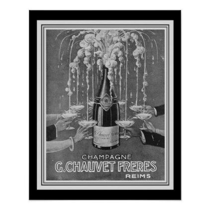 Deco Chauvet Freres Champagne Ad 16 x 20 Poster  $16.00  by ritzavenue  - cyo diy customize personalize unique
