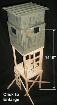 1000 ideas about deer blind plans on pinterest deer for Free ladder stand plans