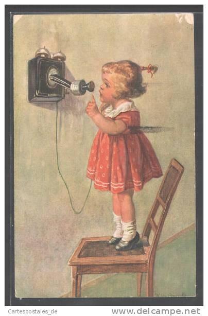 Vintage postcard (illustration by Wally Fialkowska)