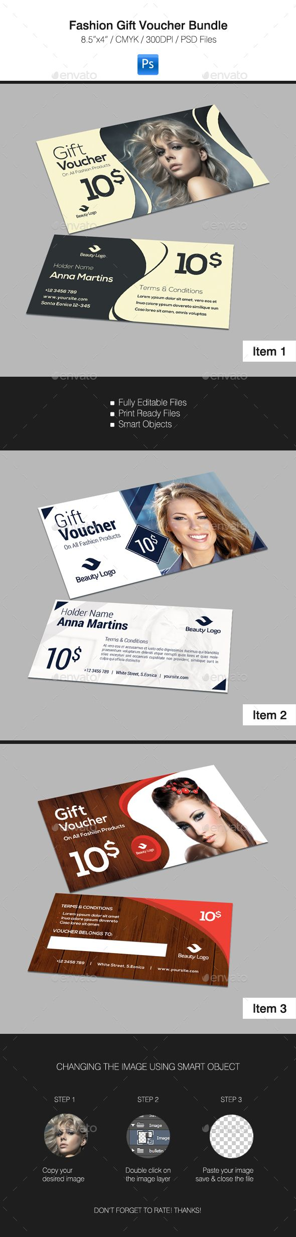 Gift Card #design Download: https://graphicriver.net/item/fashion-gift-voucher-bundle/16344276