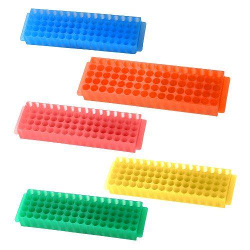 science $17 Bio Plas 0061 Assorted Polypropylene Microcentrifuge PCR Tube Rack with Cover, 80-Well (Pack of 5 Racks) Bio Plas http://www.amazon.com/dp/B006MZR6QI/ref=cm_sw_r_pi_dp_sIkmub105EVWP