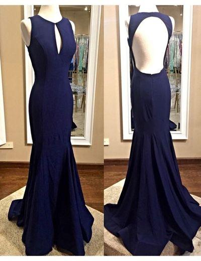 Charming Prom Dress,Sleeveless Sexy Prom Dress,Mermaid Evening Dress,Formal