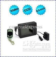 Wholesale cheap video camera online, 640*480 - Find best free shipping 650M cCD pinhole video sPY camera, 2.5 lCD monitor, infrared motion detector button spy camera remote control at discount prices from Chinese spy car keys supplier on DHgate.com.