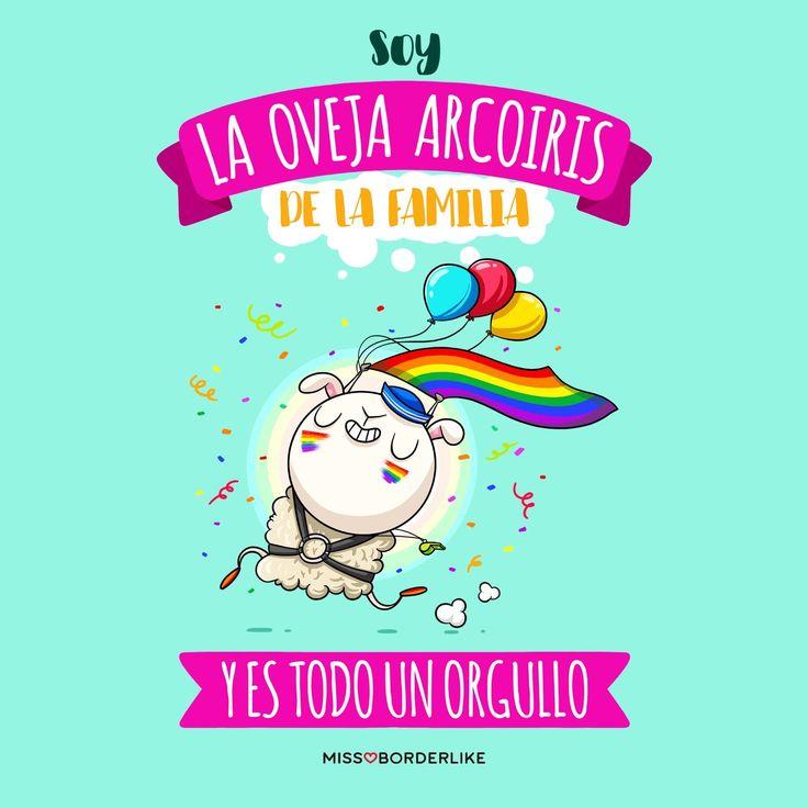Soy la oveja arcoiris de la familia y es todo un orgullo! Hoy celebramos el #DíadelOrgulloGay y con esta viñeta queremos apoyar a todas las personas sin diferencias de sexo ni de género. Love is Love! ❤️❤️❤️ ️ #orgullo #gay #frases #pride #funny #arcoiris #amor