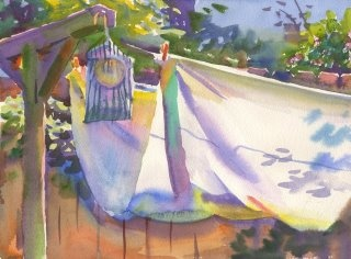 Southern artist Wyatt Waters. Is there anything better than a clothes line?